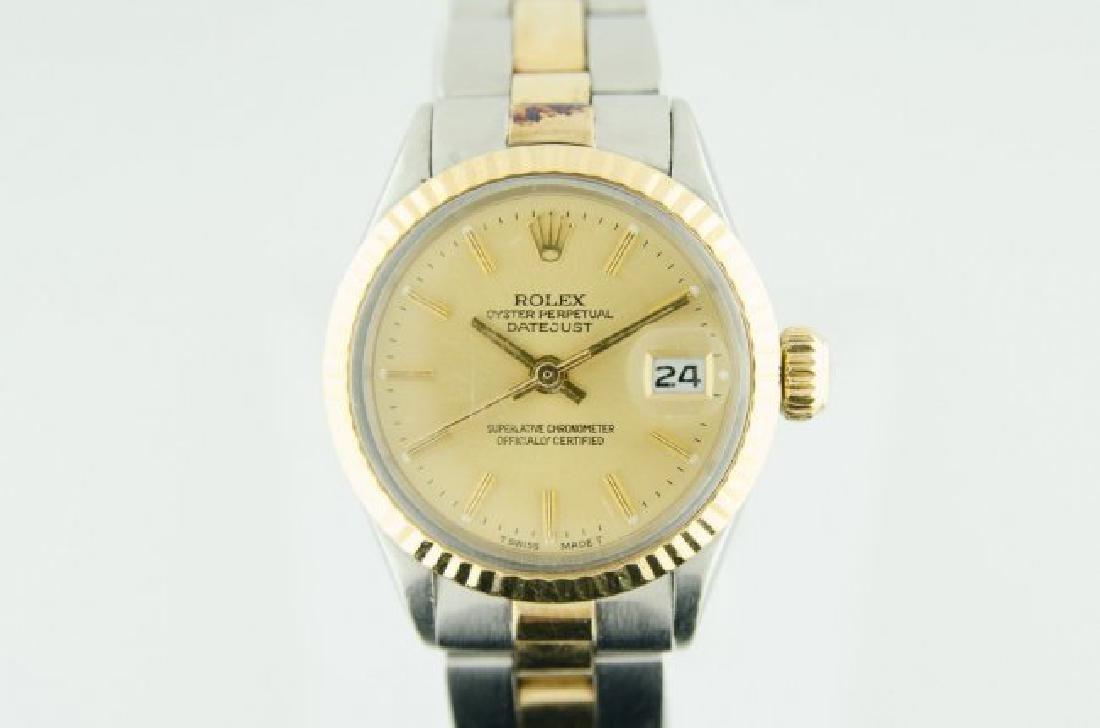 Rolex Steel & Gold Datejust Oyster Ladies Watch