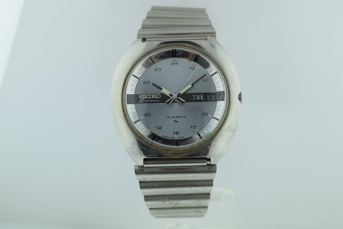Seiko Automatic Diamatic 24 Hour Dial Watch, 1970s