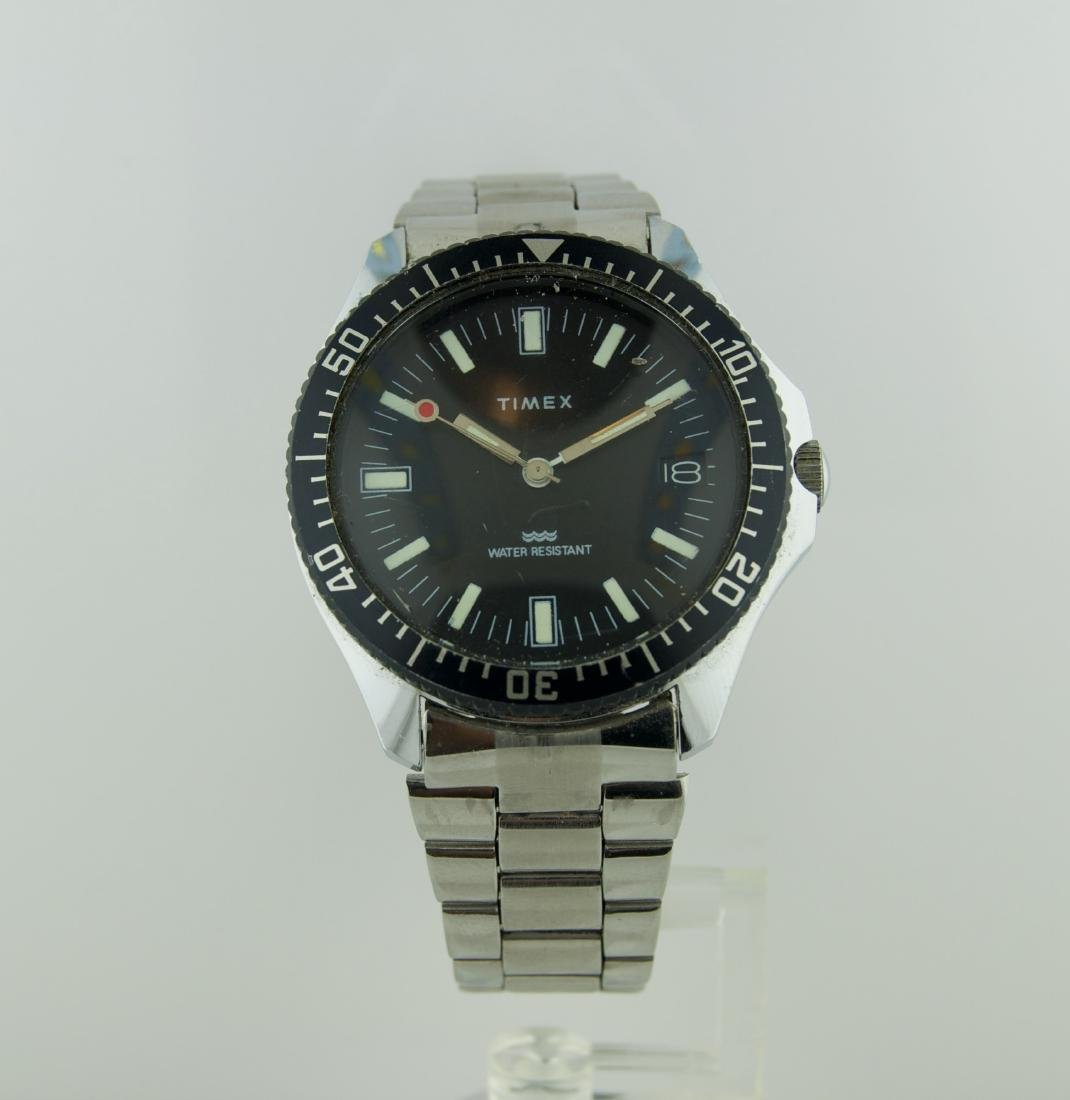 Vintage Timex Stainless Steel Rotating Bezel Watch