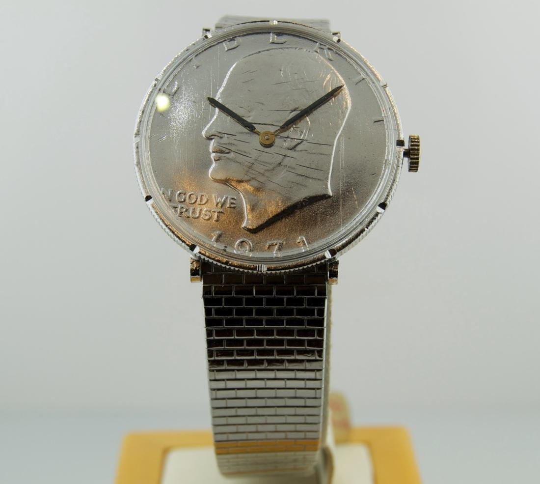 Stainless Steel Silver Coin Watch, 1970
