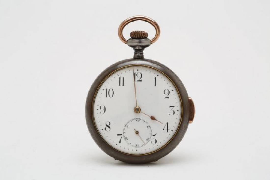 Gun Metal Quarter Hour Repeater Pocketwatch, 1920's