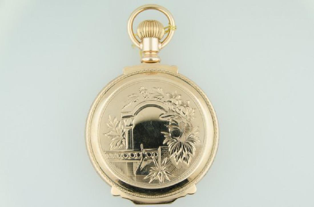 Waltham 14K Solid Gold Oversized Box Pocketwatch