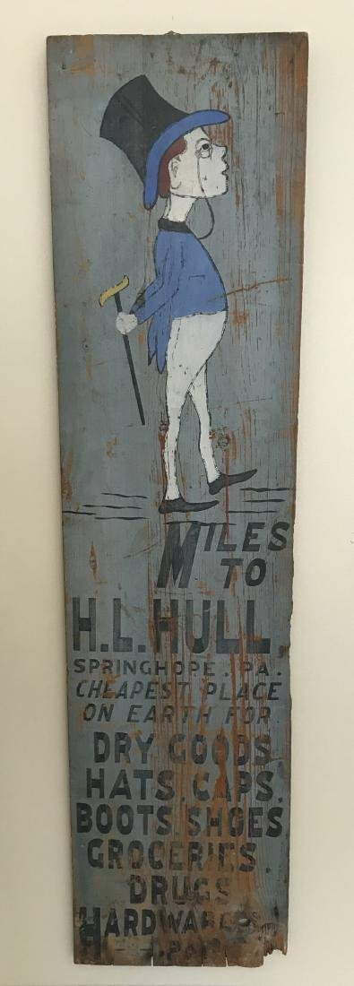 Springhope, Pa. H. L. Hull Wood Sign