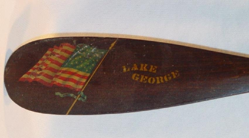 Small Canoe Paddle Decorated Lake George, New York