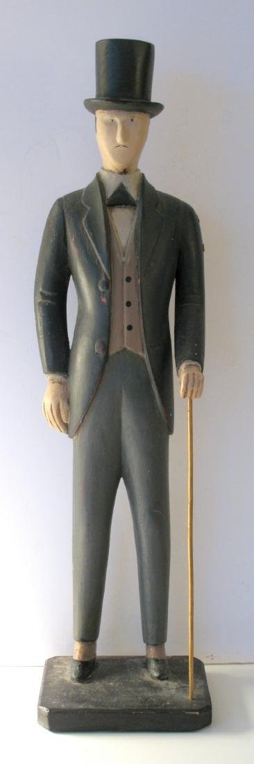 Folk Art Wood Carving of Dapper Dan
