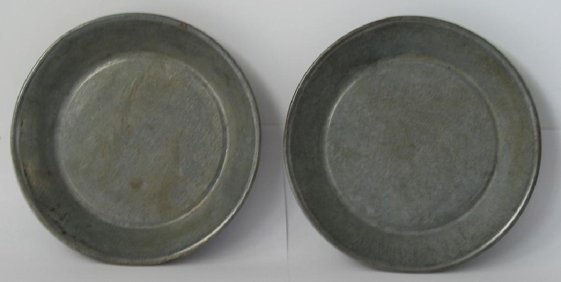 A Nice Pair of Tin Country Store Pie Plates