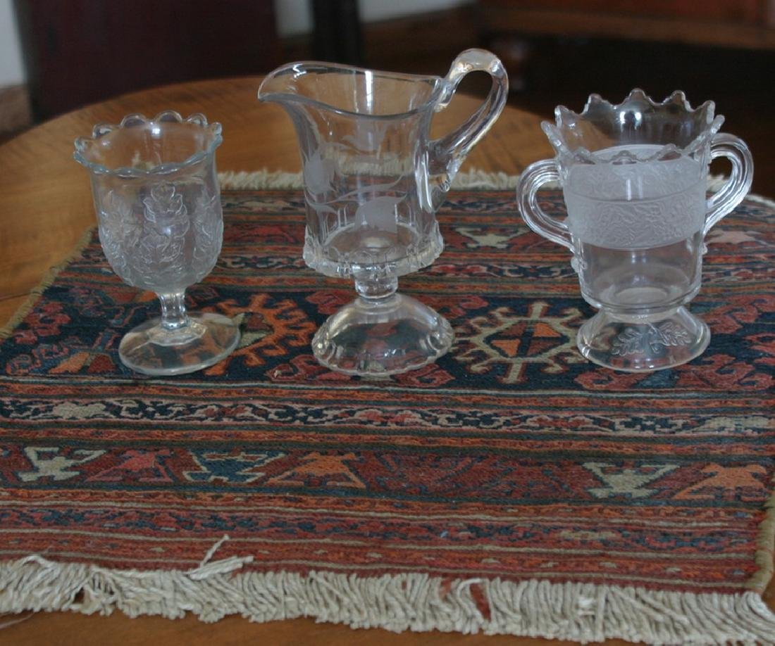 3 Pieces of Early Glass