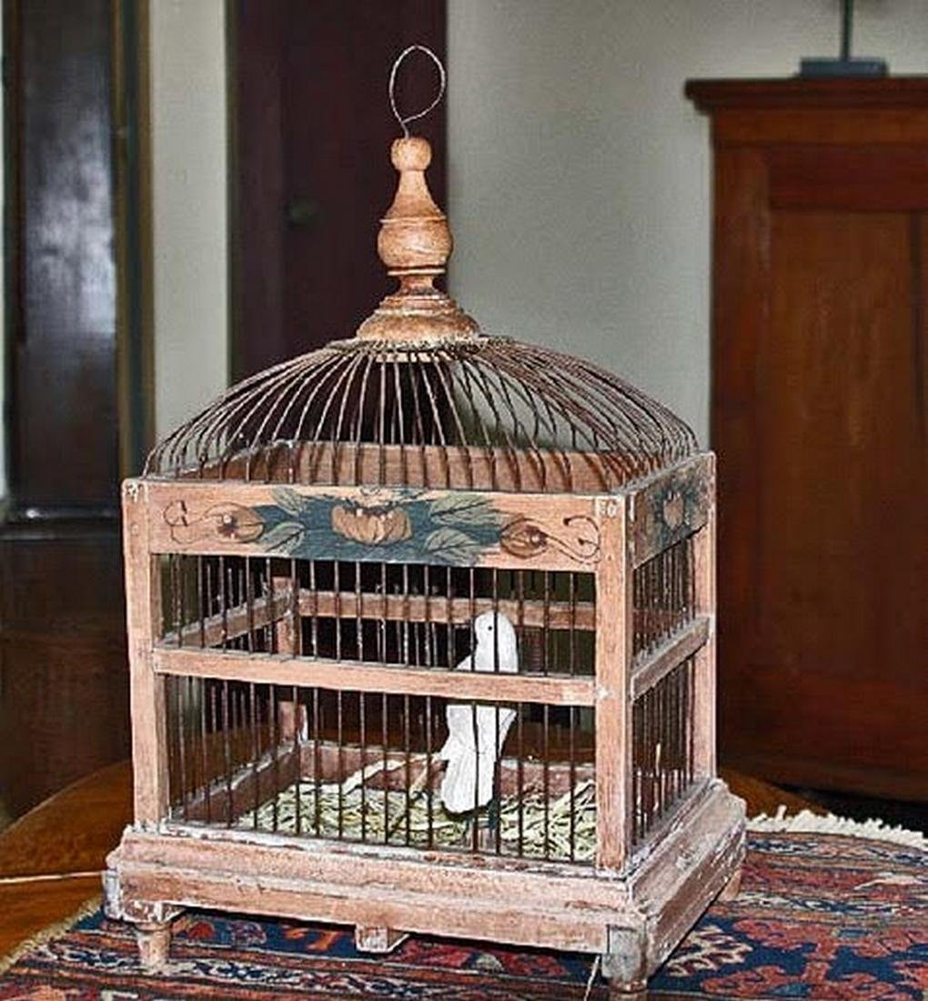 Antique Bird Cage & Bird