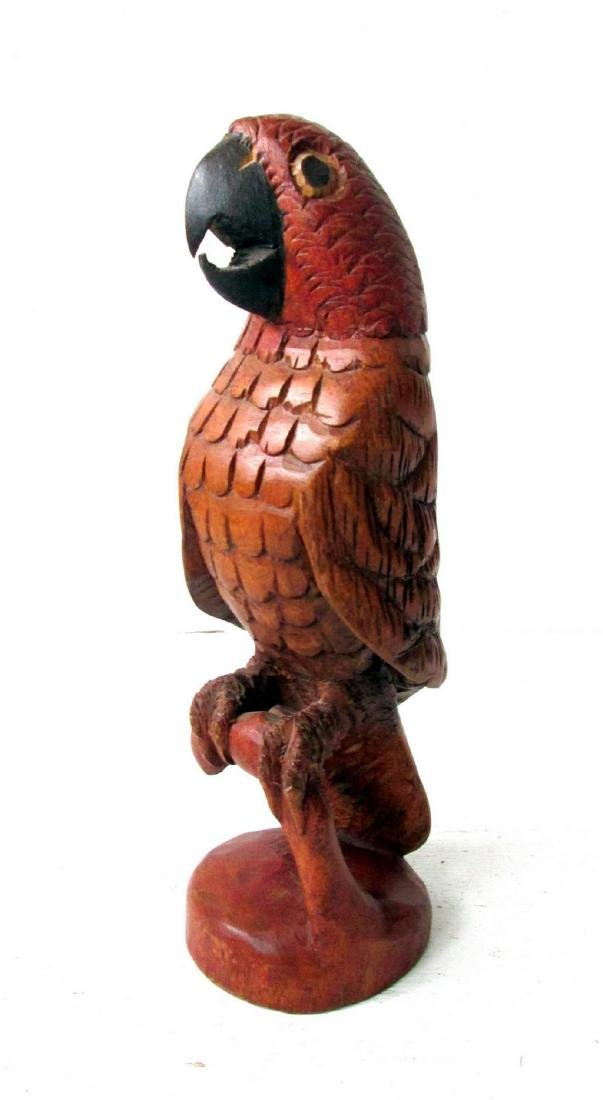 Folk Art Carved Parrot