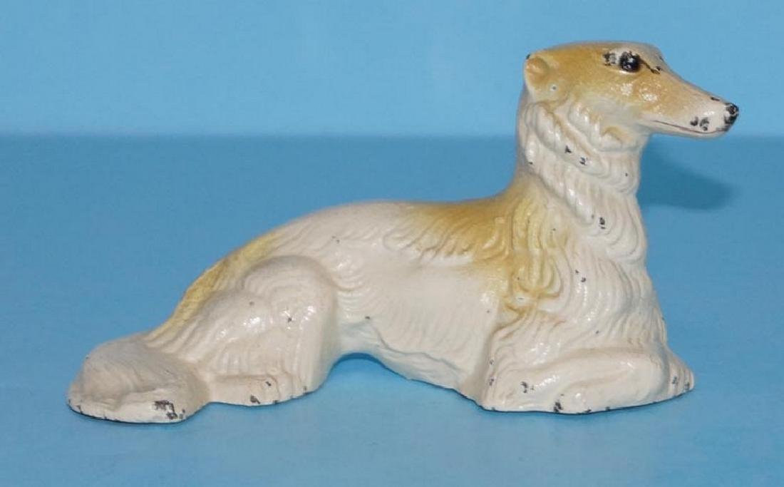Wolfhound Borzoi Afghan Dog Cast Iron Paperweight