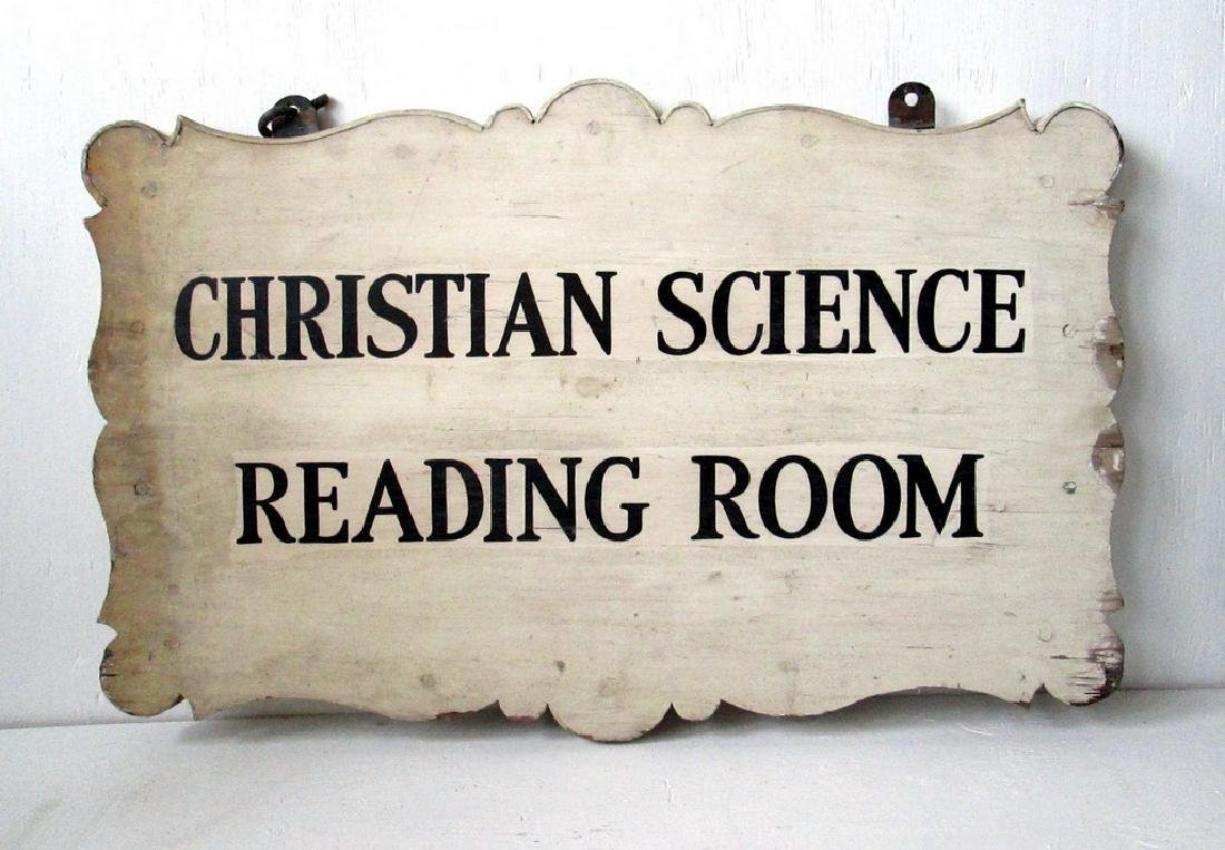 Early Christian Science Reading Room Sign