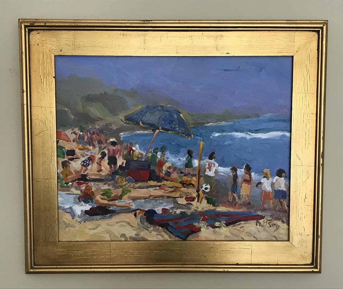 Beach Scene Painting by Kathleen Elsey, California