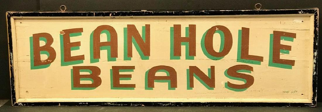 Bean Hole Beans Sign, C. 1940