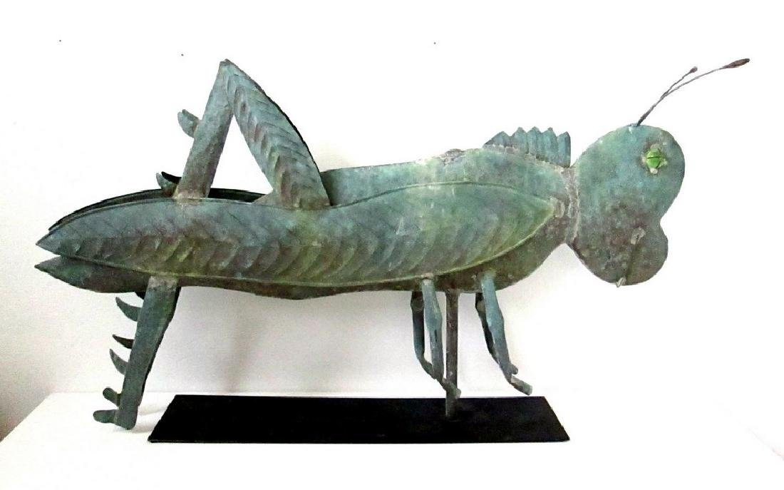Graphic Early Grasshopper Weathervane