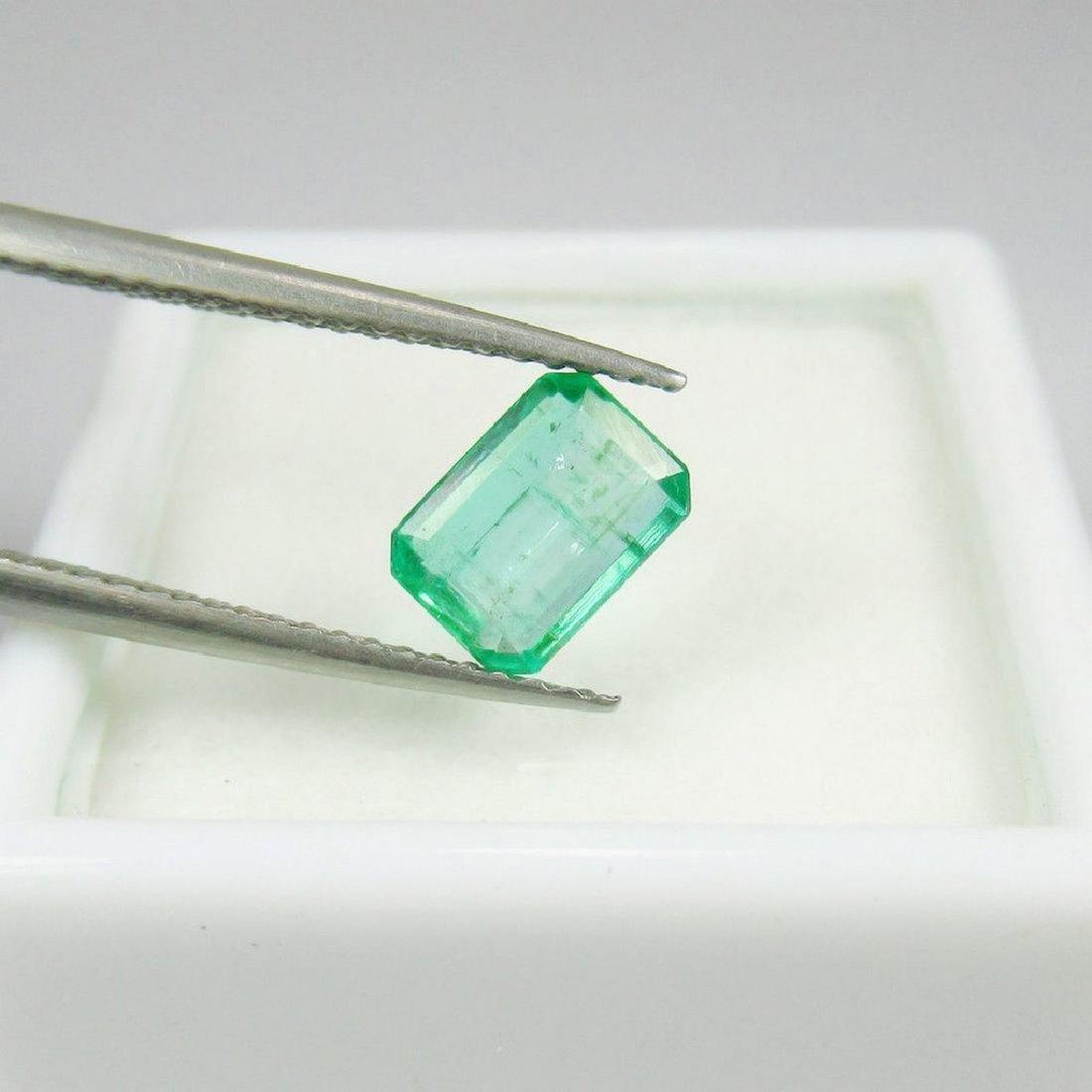 0.90 Carat Natural Zambian Loose Emerald Octagon cut