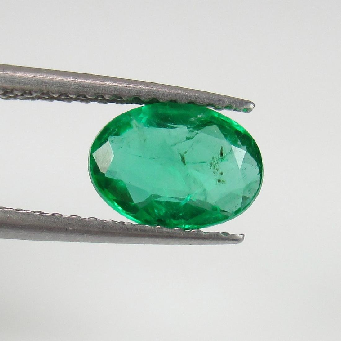 1.27 Carat Loose Zambian Emerald Oval cut Green