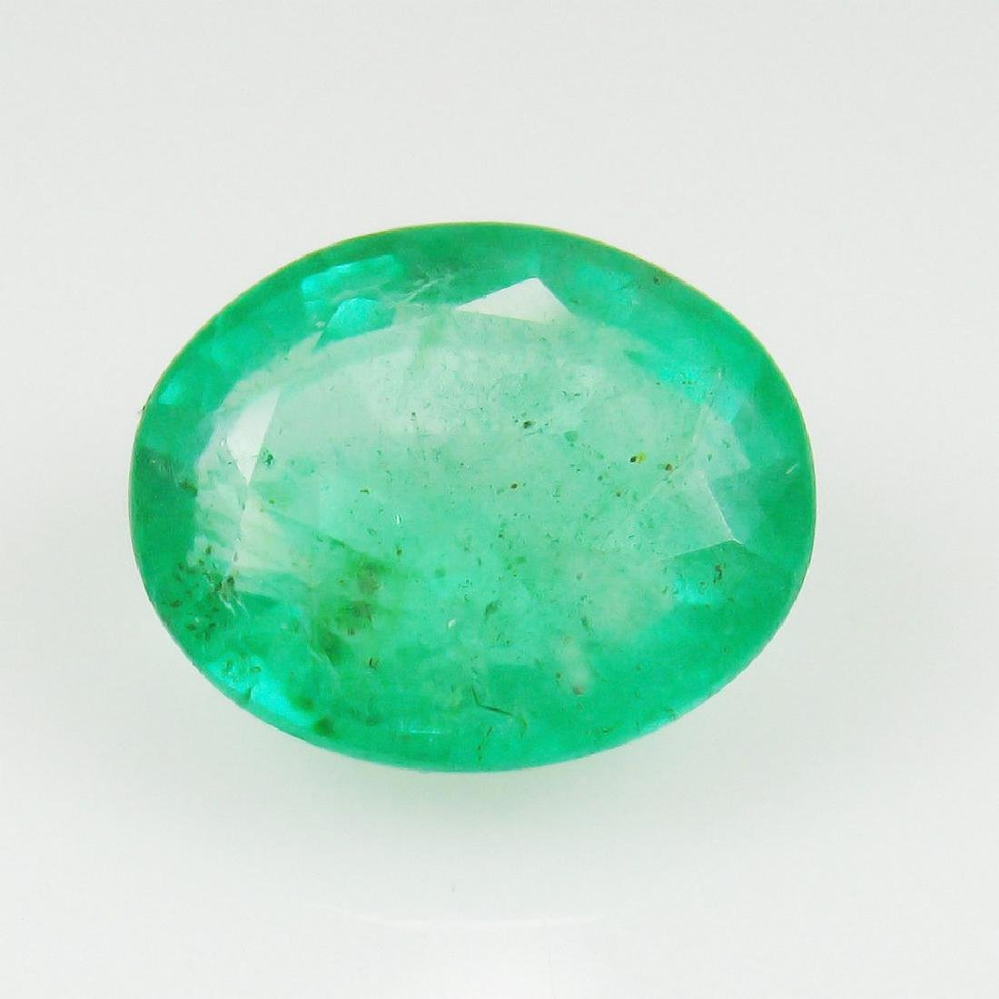 2.60 Carat Natural Zambian Loose Oval cut Emerald