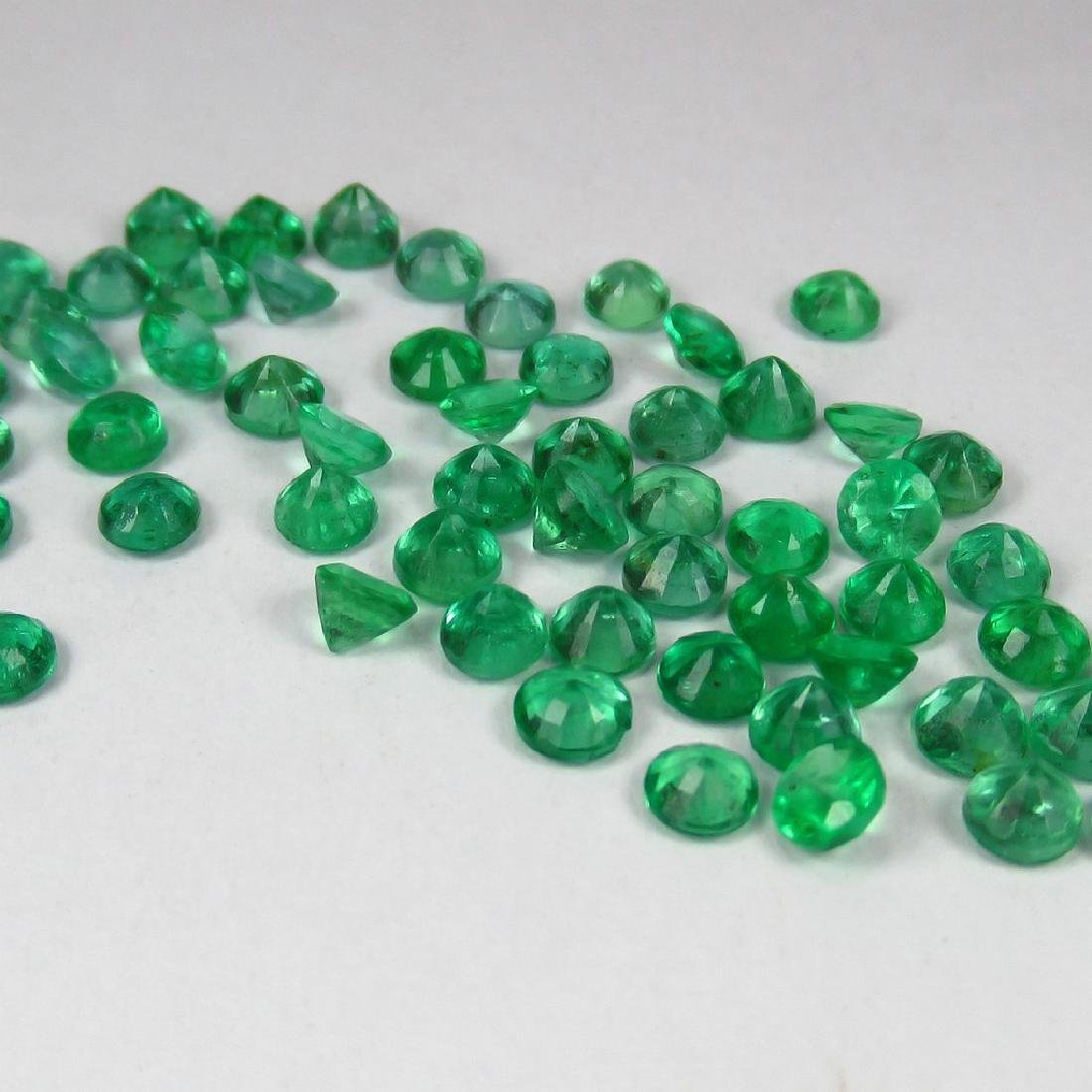10.35 Carat Natural 64 Calibrate Emerald 3.5 mm Lot