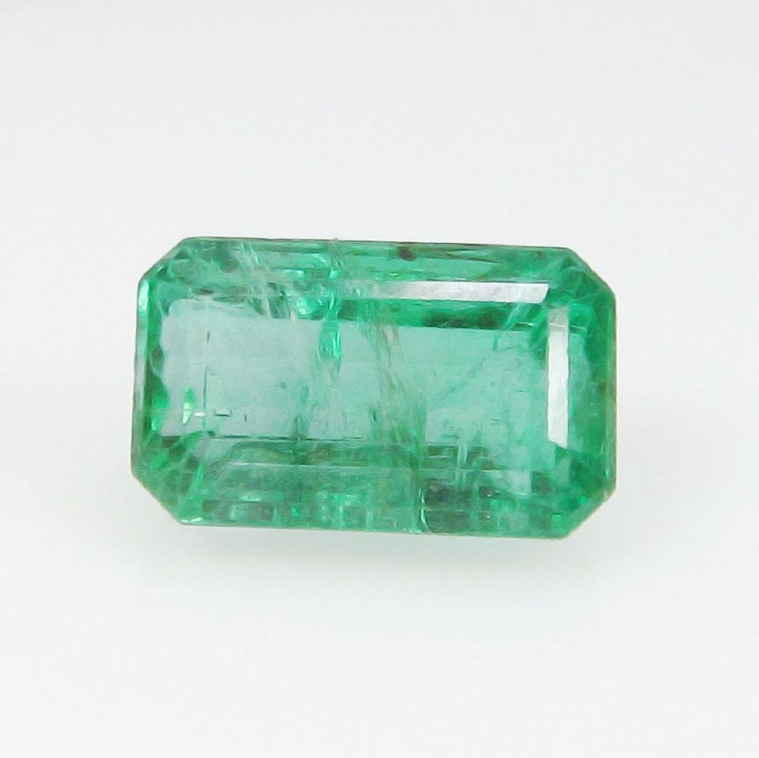 3.02 Carat Natural Zambian Loose Emerald Octagon cut