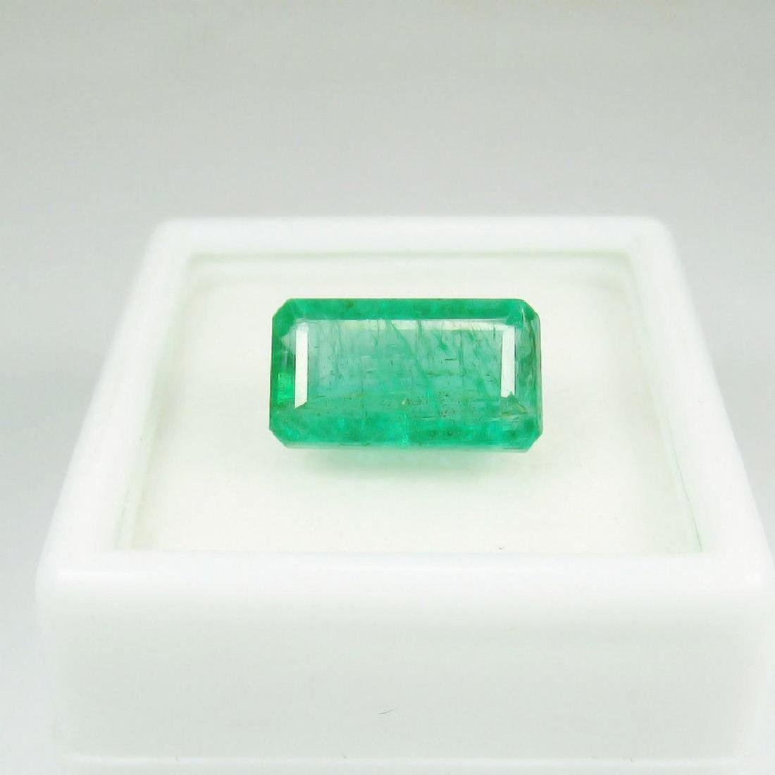 3.31 Carat Natural Zambian Loose Emerald Octagon Cut