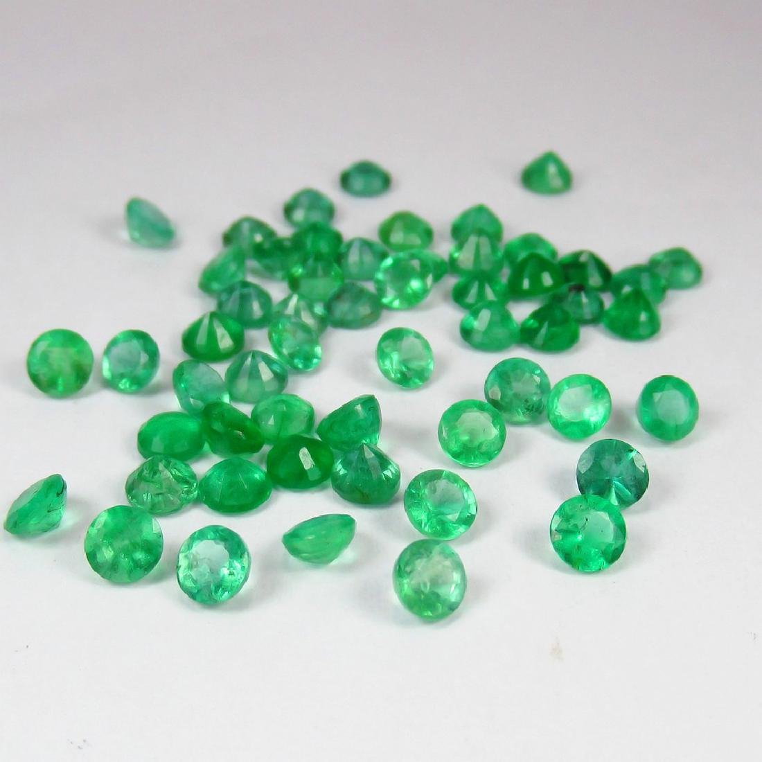 15.31 Carat Natural 55 Calibrate Emerald 4.2 mm