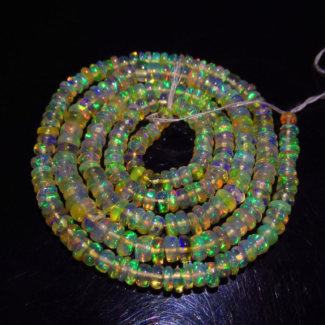 29.58 Carat 250 Drilled loose Ethiopian Fire Opal Beads