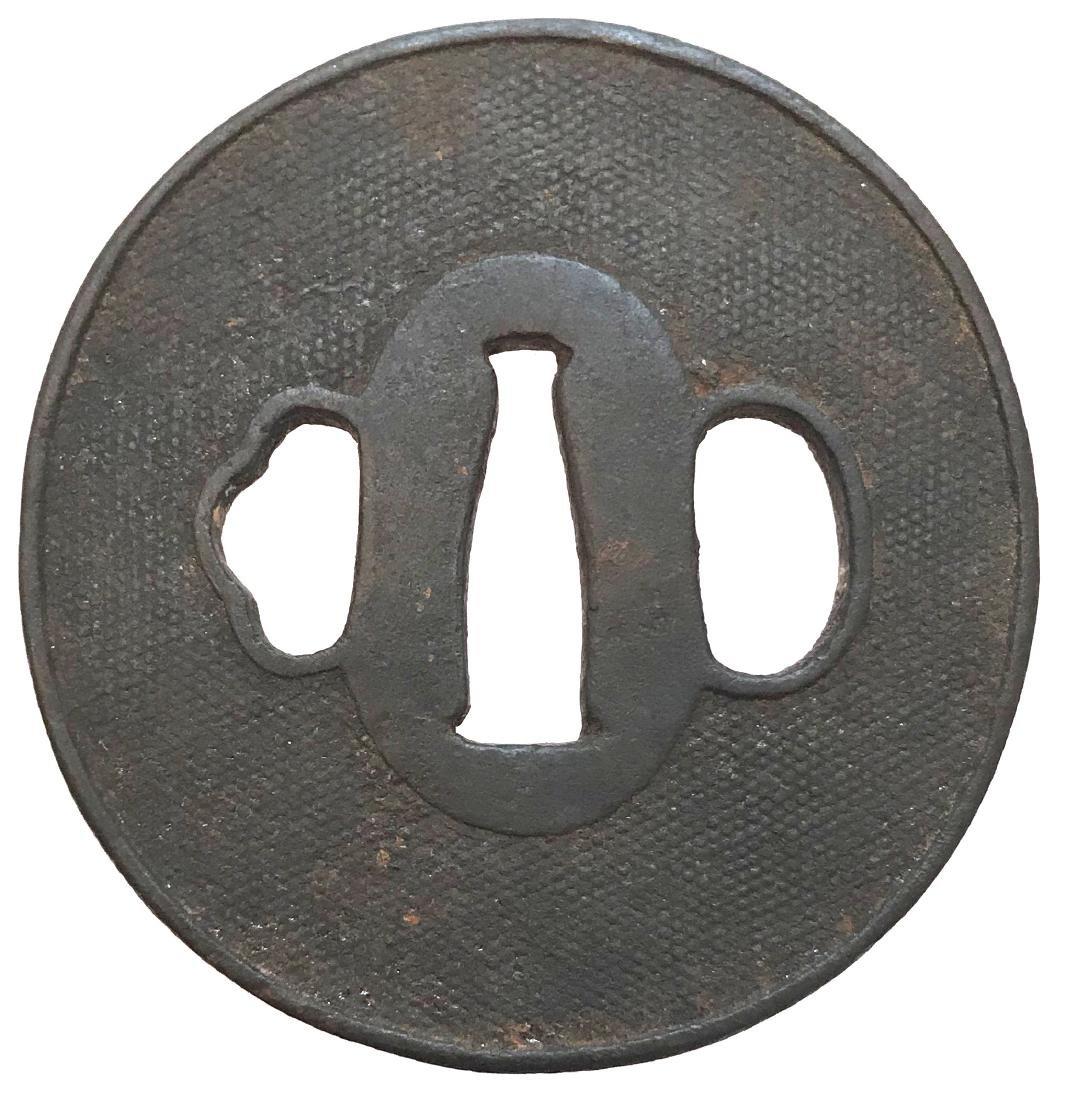 Iron tsuba with nanako - 2