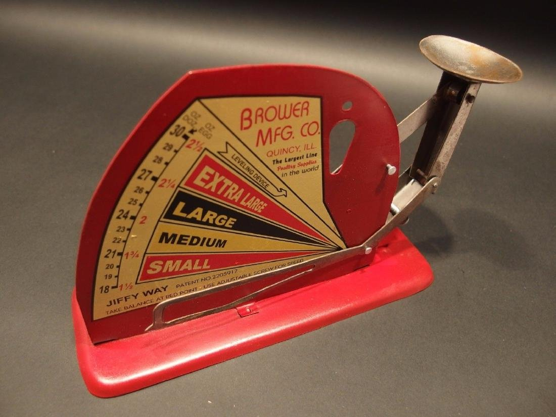 Brower Mfg. Quincy, Ill. Jiffy Way Egg Scale