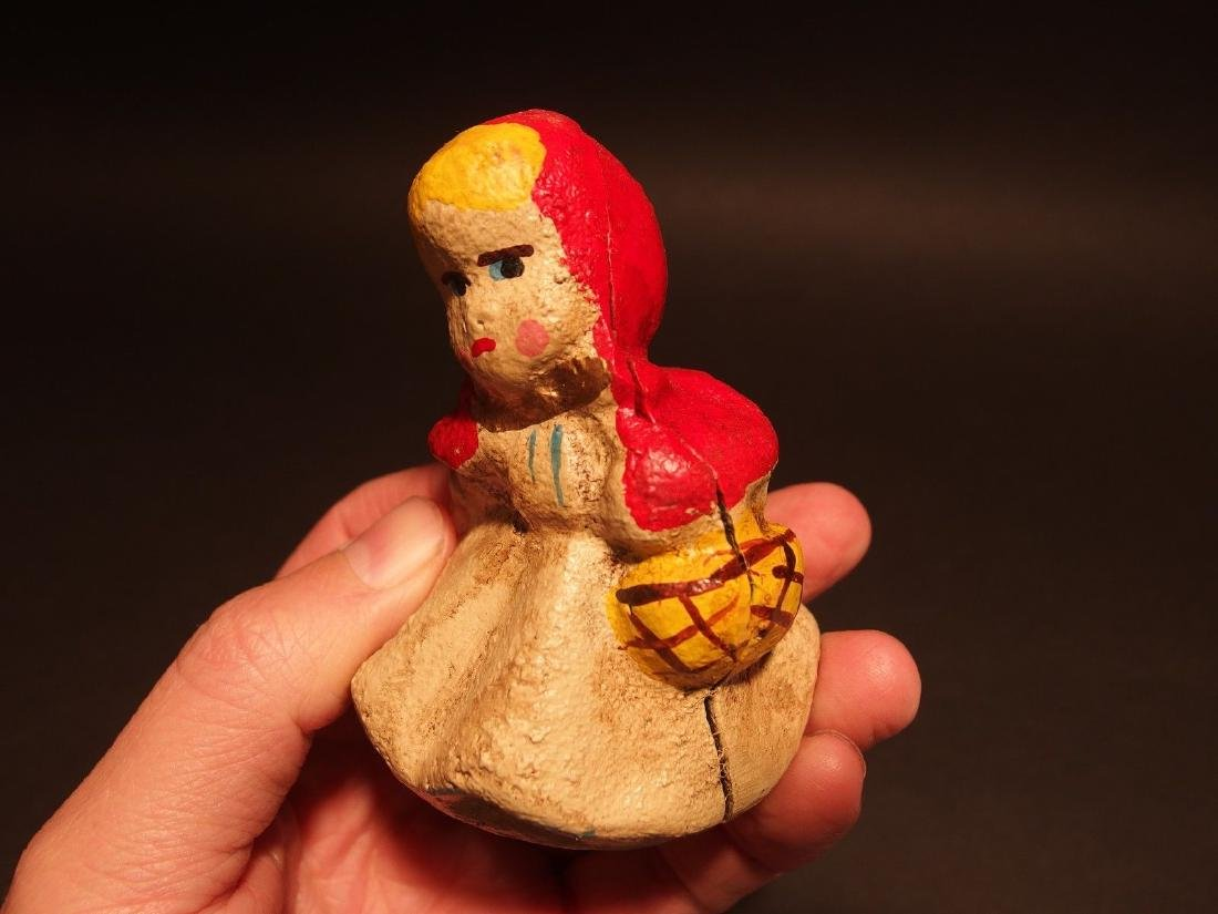 Miniature Cast Iron Little Red Riding Hood Dime Coin - 10