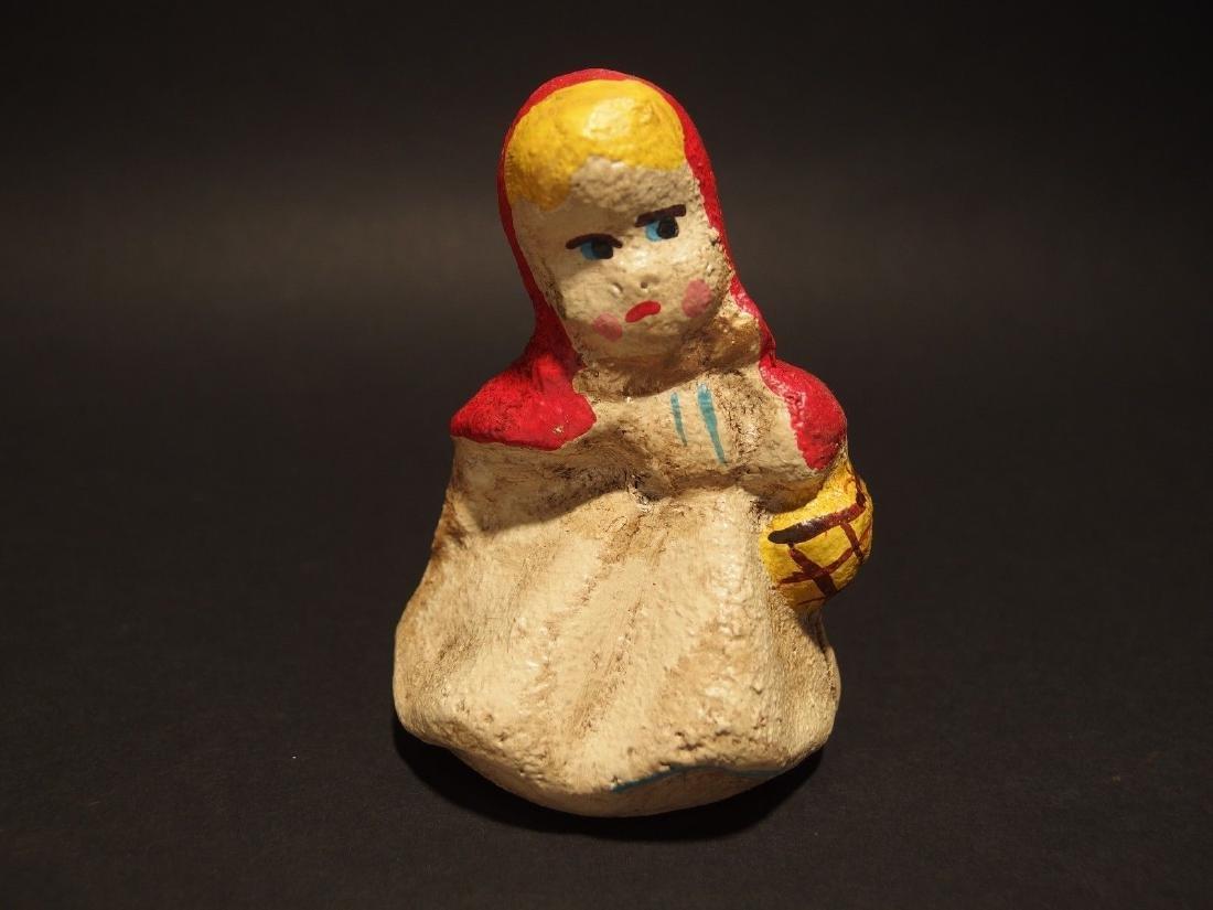 Miniature Cast Iron Little Red Riding Hood Dime Coin - 12
