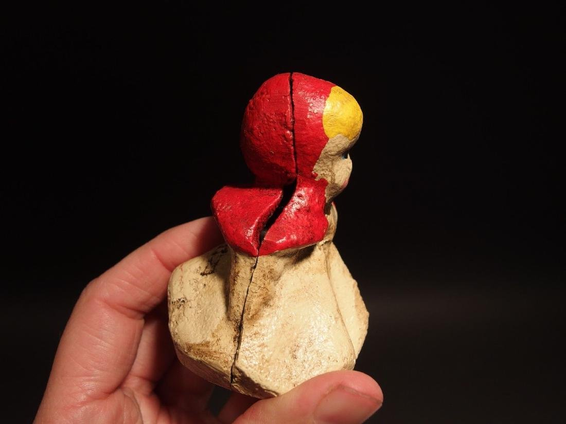 Miniature Cast Iron Little Red Riding Hood Dime Coin - 2