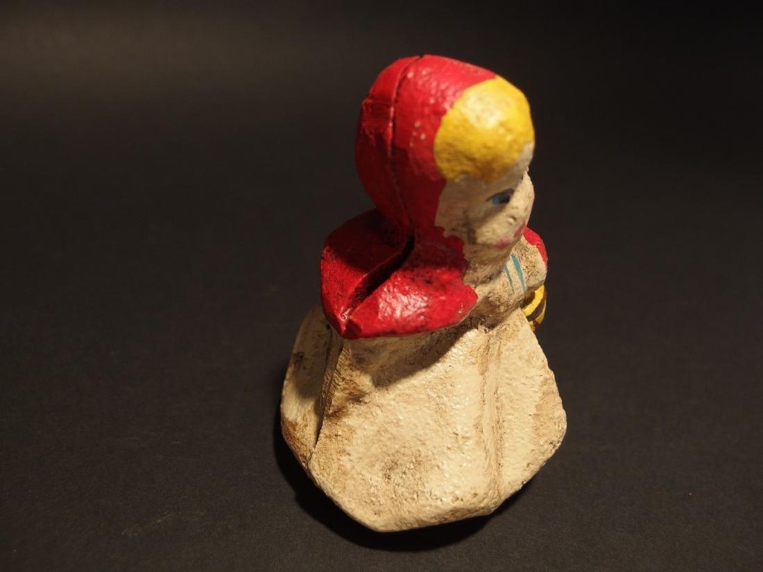 Miniature Cast Iron Little Red Riding Hood Dime Coin - 3