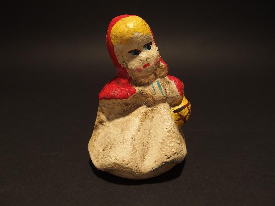 Miniature Cast Iron Little Red Riding Hood Dime Coin - 8