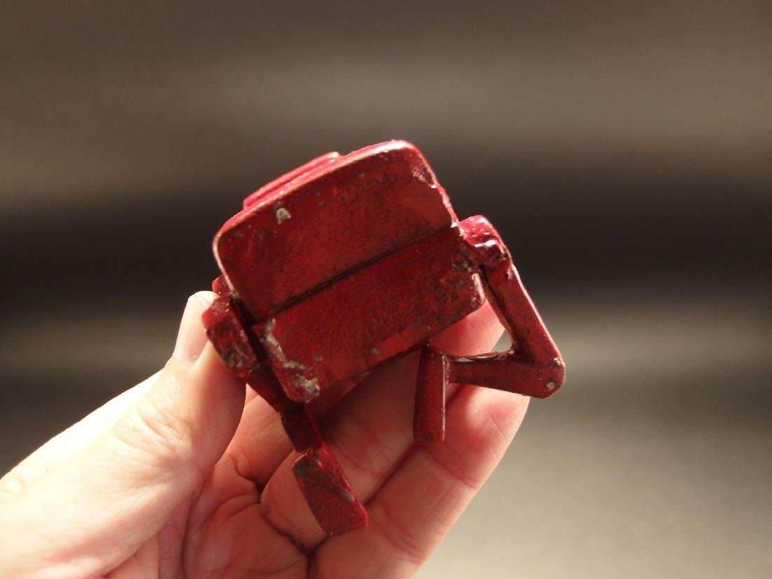 Mini Cast Iron Red Robert the Robot Toy Paperweight - 8