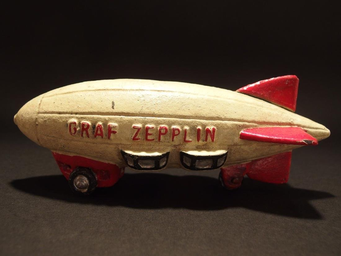Cast Iron Folk Art Graf Zepplin Toy