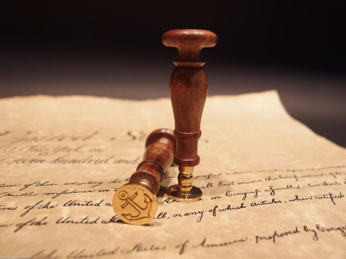 (1) Brass Anchor Wax Seal Letter Stamp - 2