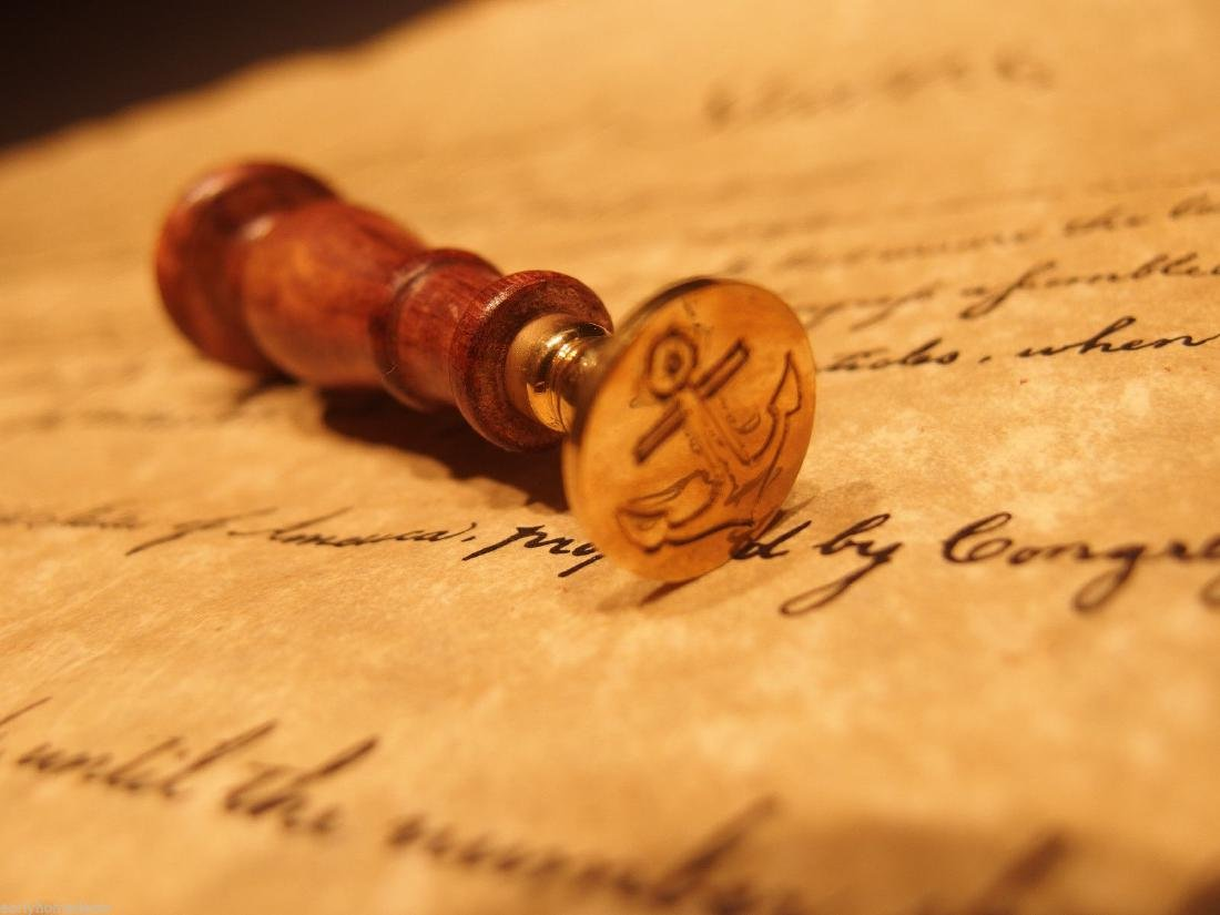 (1) Brass Anchor Wax Seal Letter Stamp - 5