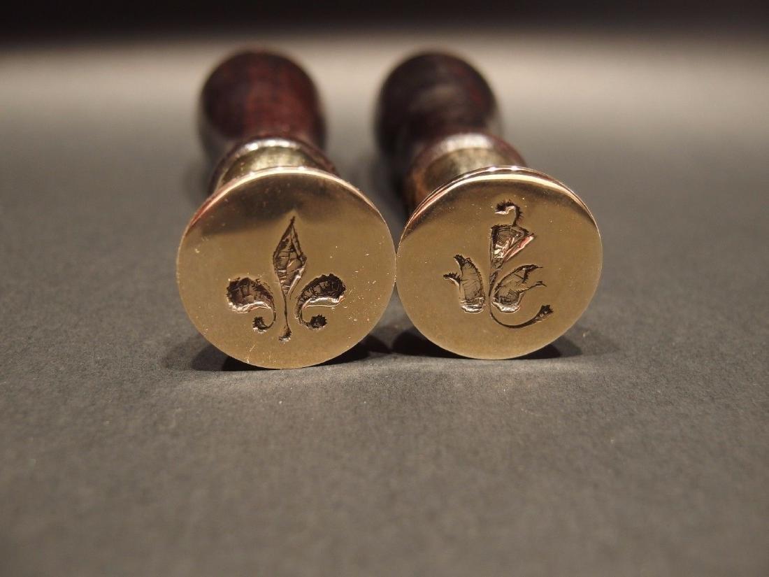 (2) Fleur De Lis & Leaf Wax Seal Set - 2