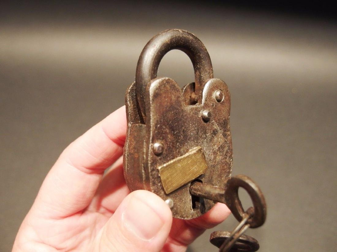 Wrought Iron Trunk Chest Box Lock Key Padlock - 2