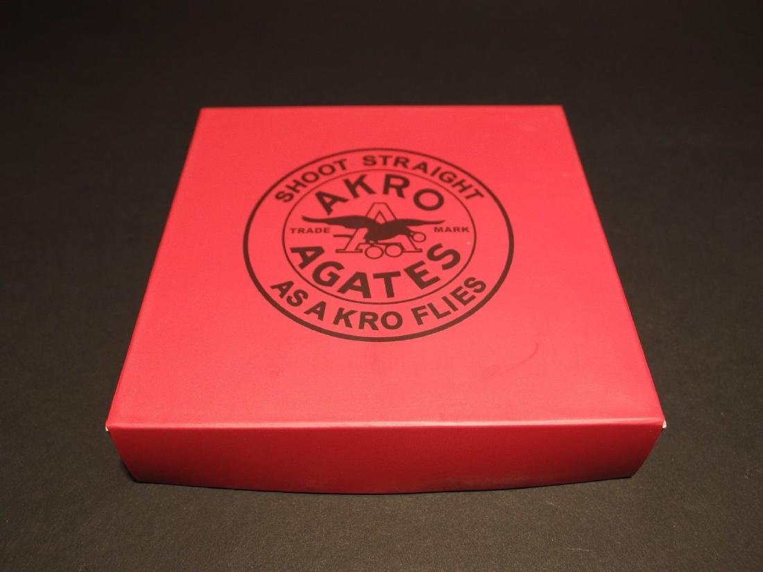 Akro Agates Marble set w Box Red Stripe - 4