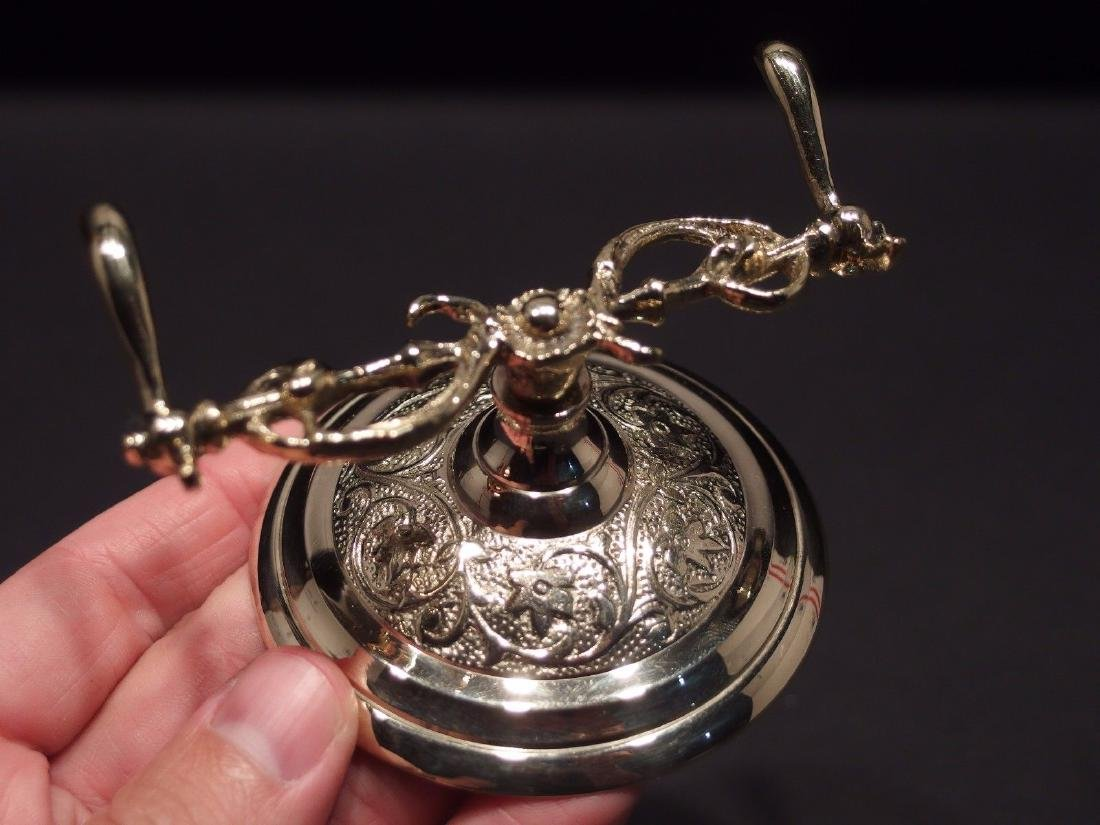 Ornate Golden Brass Pen Holder Desk Stand