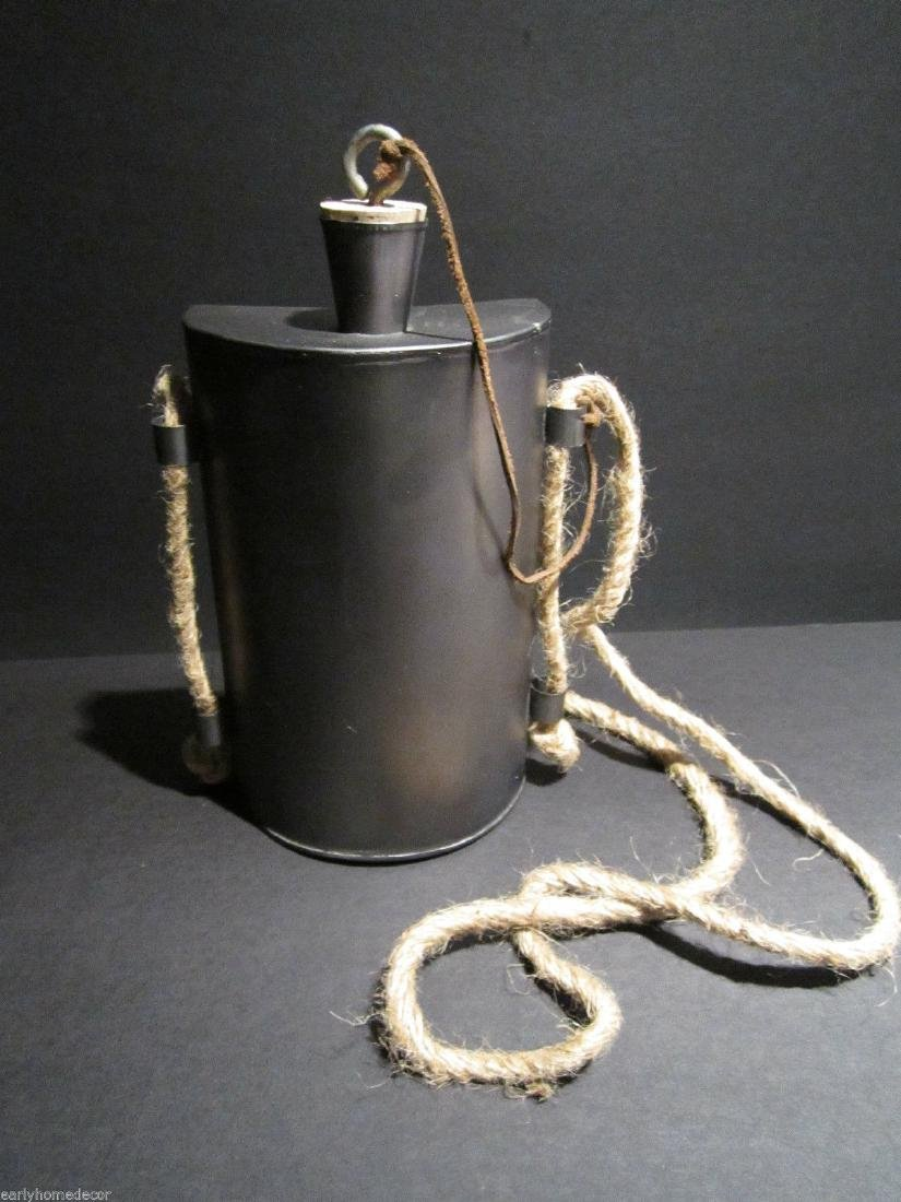 French Indian or Civil War Tin Kidney Canteen - 6