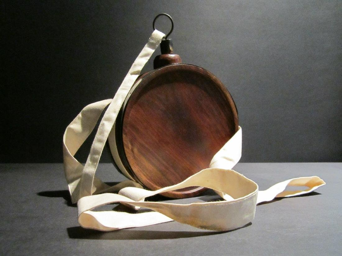 Decorative Wood Drum Canteen Keg