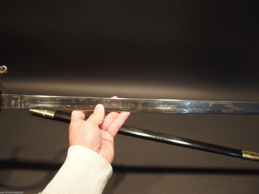 W.J. McElroy Civil War Officers Confederate CS Sword - 6