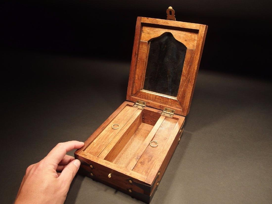 19th C Style Campaign Shaving Travel Dressing Box kit