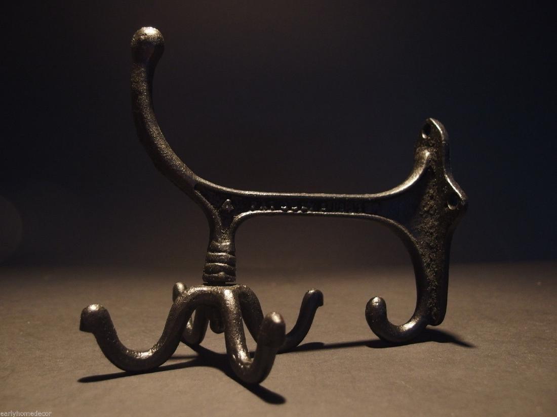 Black Cast Iron Hook Rotating Bracket Spinning Coat - 8