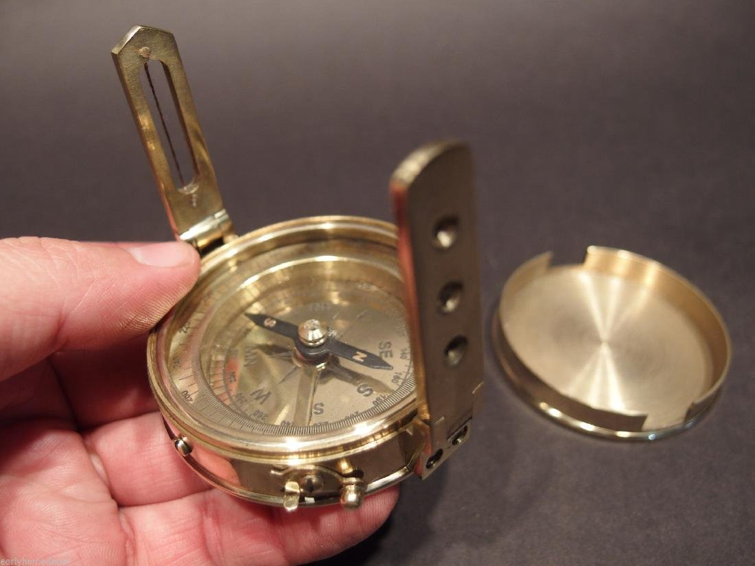 Brass Surveyors Compass - 5