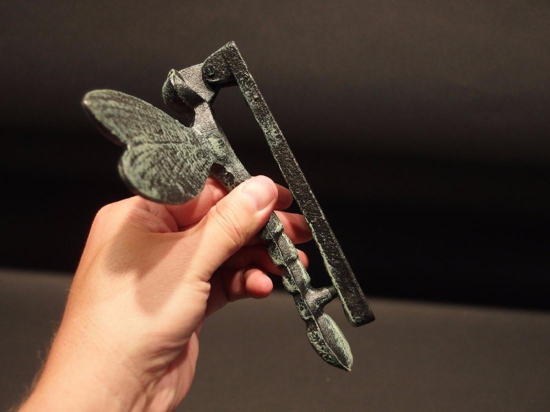 Cast Iron Verdigris Green Dragonfly Door Knocker - 5
