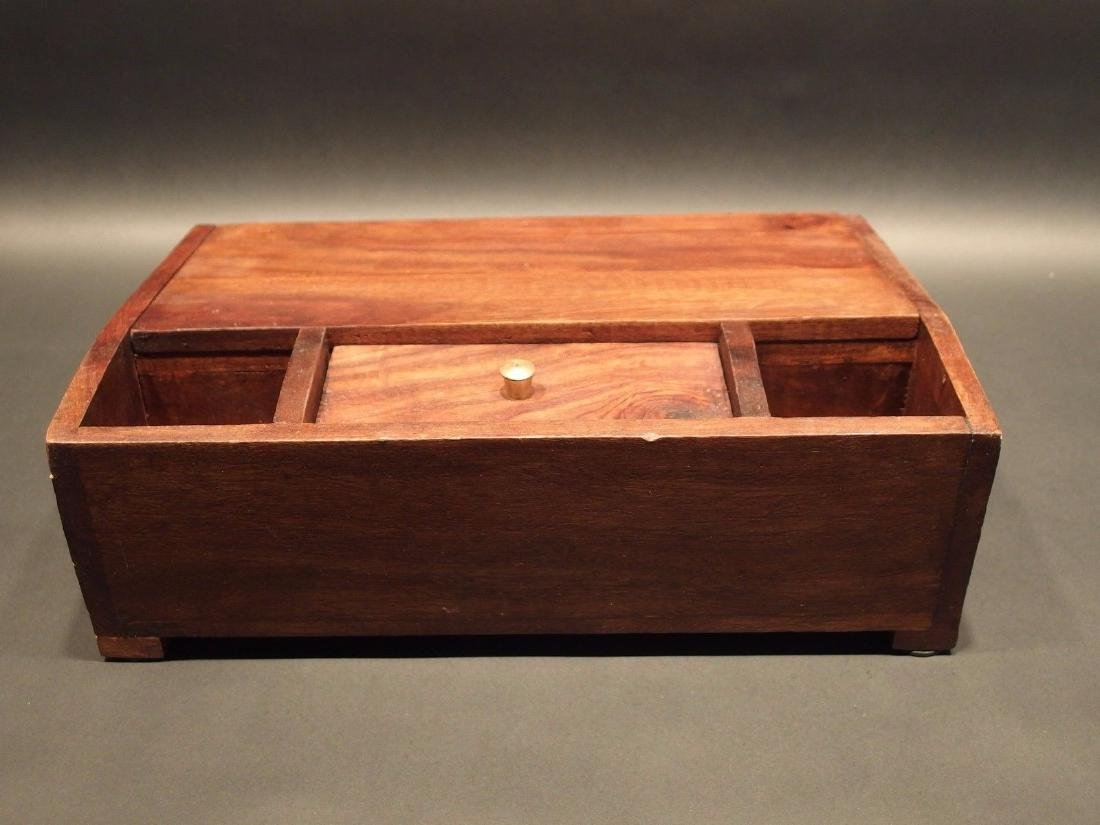 Folding Document Writing Slope Lap Desk Campaign Box - 10