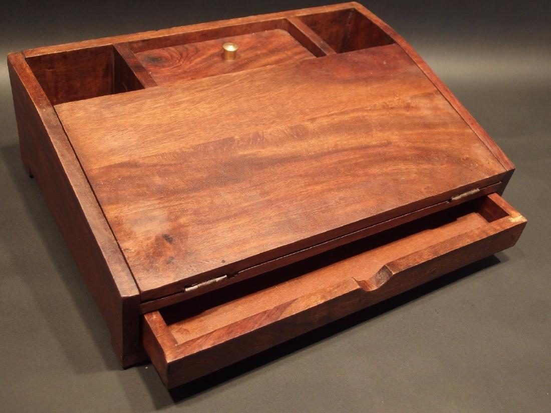 Folding Document Writing Slope Lap Desk Campaign Box - 2